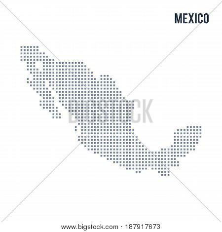 Vector Pixel Map Of Mexico Isolated On White Background