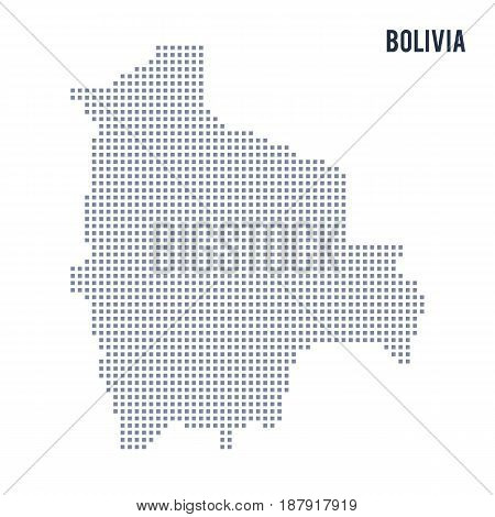 Vector Pixel Map Of Bolivia Isolated On White Background