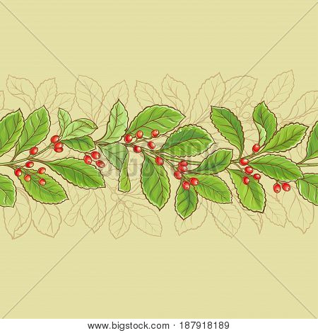 yerba mate vectpr  seamless pattern on color background