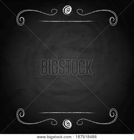 Empty Border On Blackboard Chalkboard Background