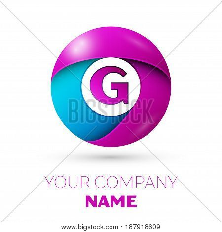 Letter G vector logo symbol in the colorful circle on white background. Vector template for your design