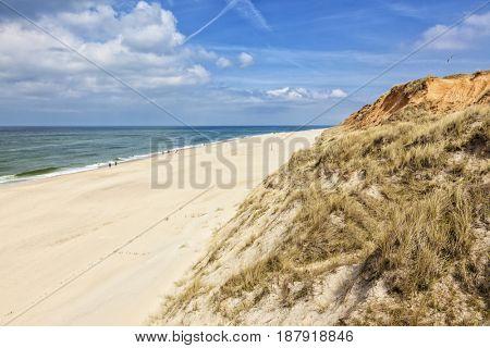 Beach below Rotes Kliff dunes at Kampen, Sylt