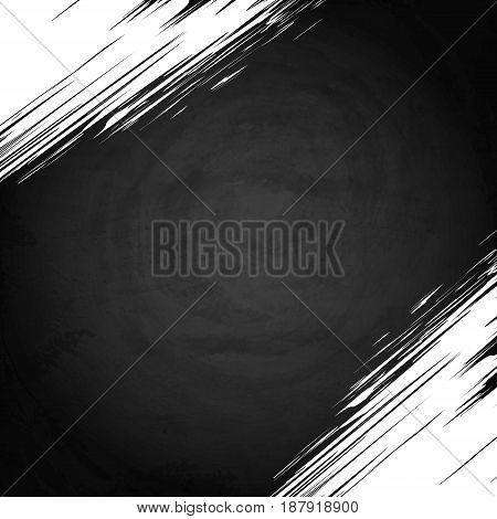 Empty Border On Blackboard Chalkboard Background