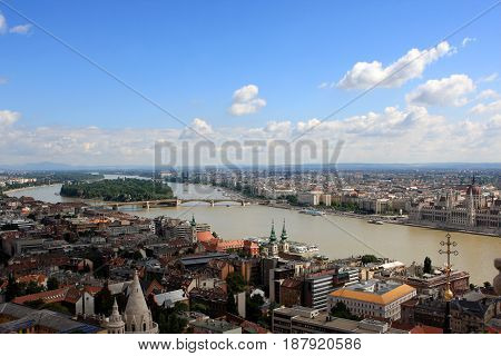 View of Budapest from the hill, Hungary