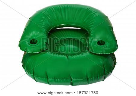 Inflatable chair for swimming pool, Isolated white background