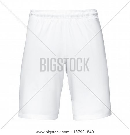 Mens sports white  shorts, Isolated on white background