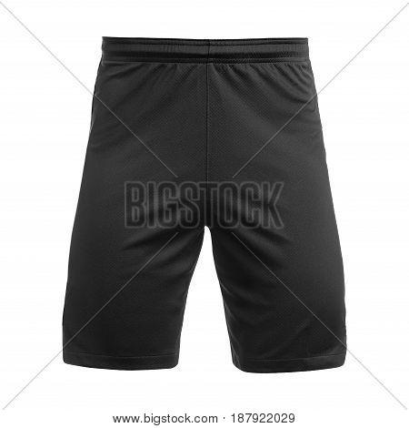 Mens sports black  shorts, Isolated on white background