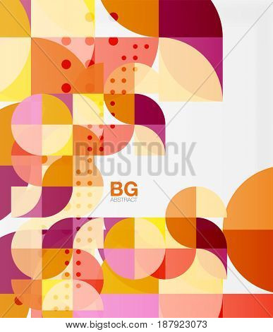Modern geometric circle abstract background. template background for workflow layout, diagram, number options or web design