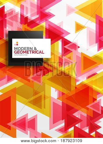 Paper art style triangle pattern texture, abstract geometric background