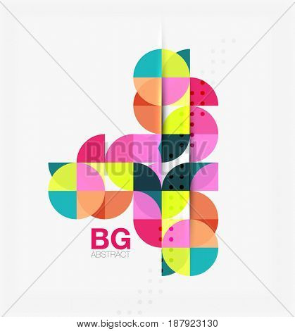 Modern geometrical abstract background. template background for workflow layout, diagram, number options or web design