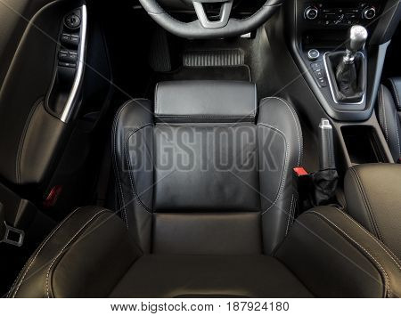Top view of car seat with active lateral support stock image