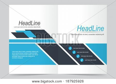 Blue Cover template background flyer design. Abstract template for annual business report poster