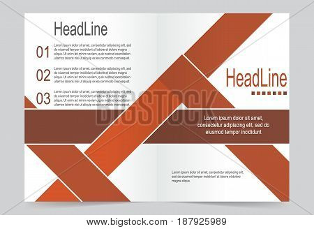 Brown Cover template background flyer design. Abstract template for annual business report poster