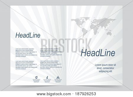 Gray Cover template background flyer design. Abstract template for annual business report poster