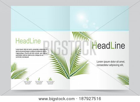 Summer Cover template background flyer design. Abstract template for annual business report poster