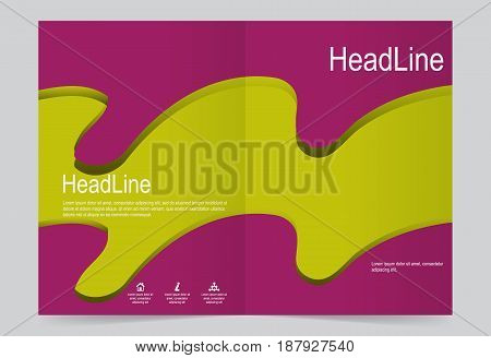 Cover template background flyer design. Abstract template for annual business report poster