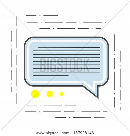 The illustration of a chat is modern. Icon of dialogue or communication of the flat line style. Single