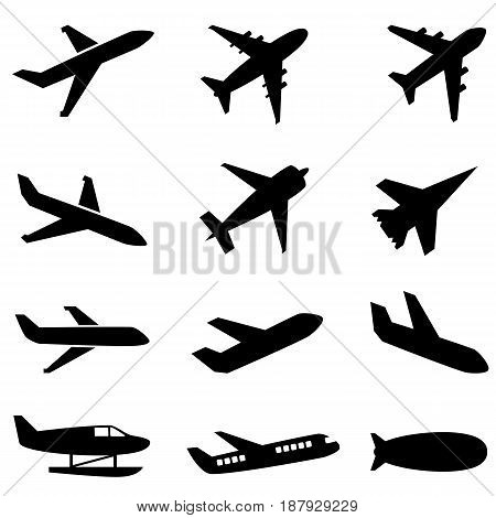 Passenger planes and other type of airplanes