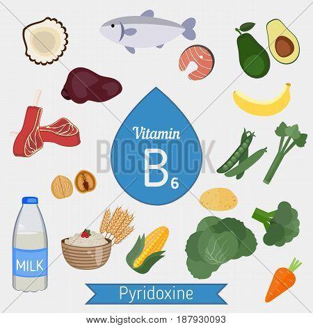 Vitamin B6 Or Pyridoxine Infographic
