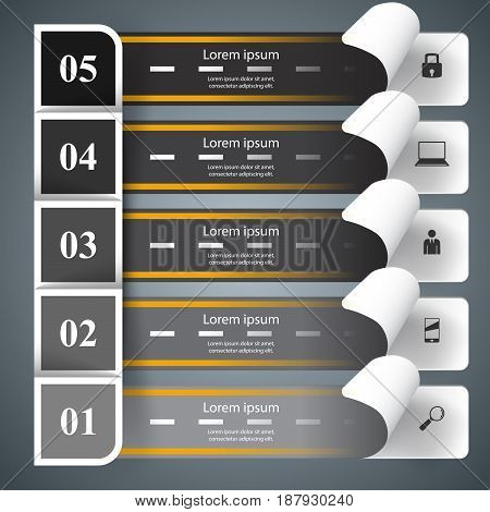 Abstract 3D digital illustration Infographic. Marketing info.