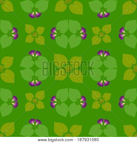 Pattern abstraction flowers leaves green graphics design wallpaper