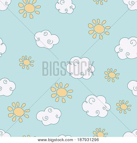 Vector Pattern With Clouds