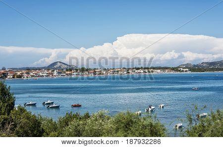 Seascape. The coast of Laganas bay on the island of Zakynthos (Greece)