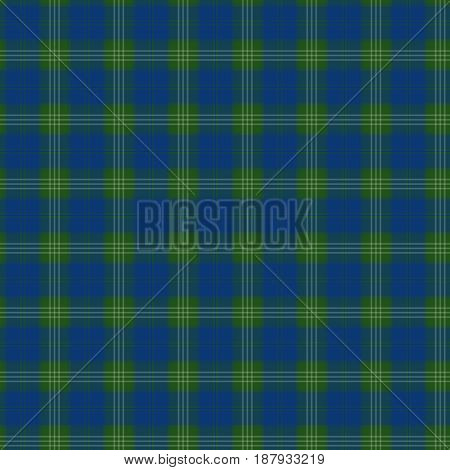 Fabric in green and blue checkered pattern seamless pattern tartan. vector background
