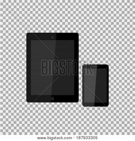 Realistic Modern, Stylish Mobile Phone, Pad, Tablet On Isolate Background. Vector Illustration