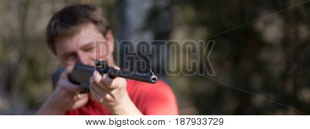 Man With Air Gun