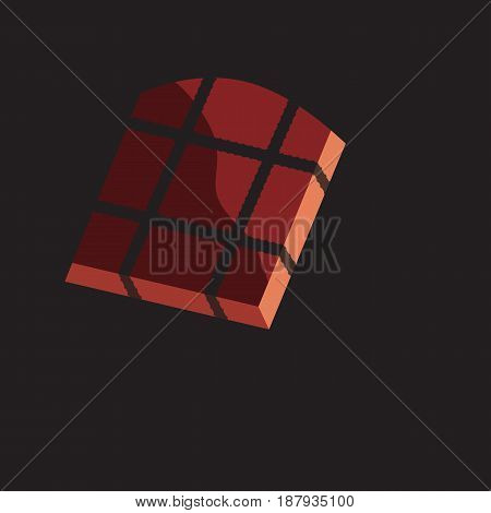 Prison cell with window and lattice. Dramatic vector illustration on gloomy background.