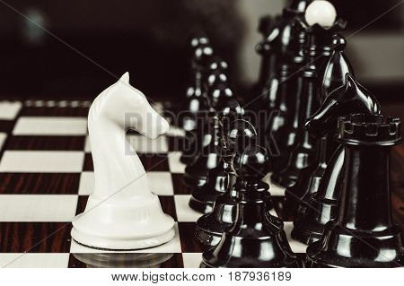 Single Chess Piece Against Many Enemies