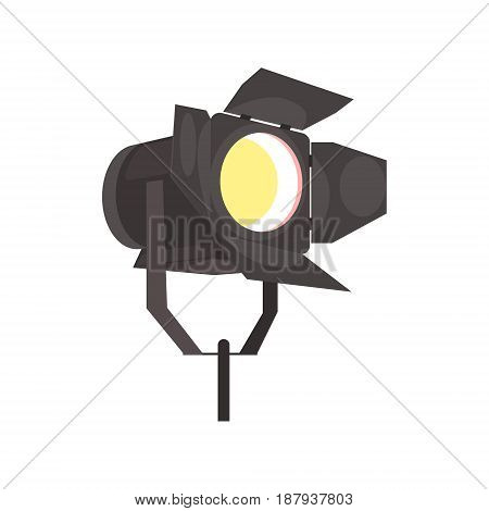 Spotlight with directional light vector Illustration isolated on a white background