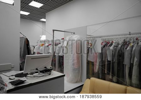 Dry cleaner's workshop interior