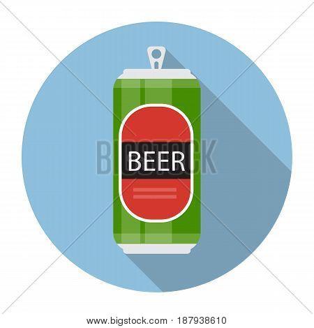 Beer Bottle Template in Modern Flat Style Icon on White. Material for Design. Vector Illustration EPS10