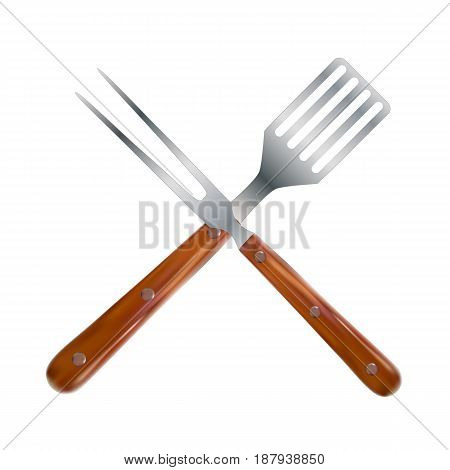 BBQ and Grill Tools. Vector Illustration EPS10