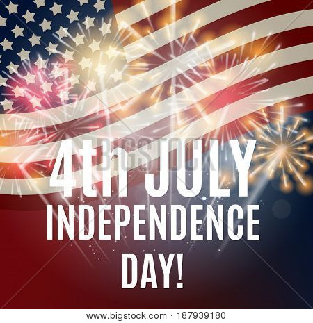 Independence Day in USA Background. Can Be Used as Banner or Poster. Vector Illustration EPS10