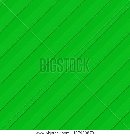 Green abstract seamless 3D diagonal stripe pattern background