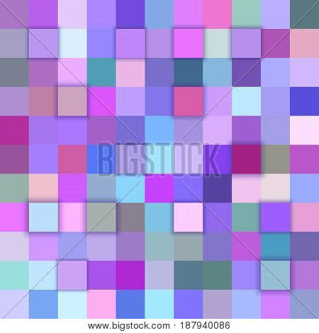 Colorful abstract 3d cube mosaic background from squares