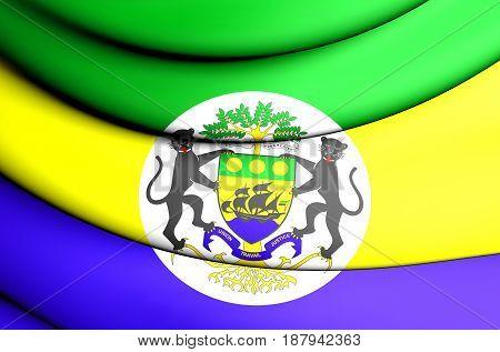3D Presidential Standard Of Gabon.