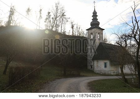 Saint Lenart church near Bled in Slovenia.