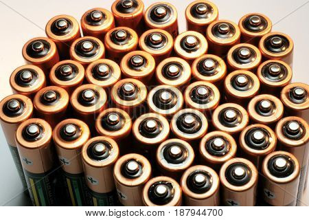 Close Up of  an Abundance of  Batteries