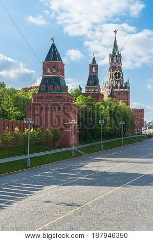 St. Basil's Descent Square in Moscow Russia