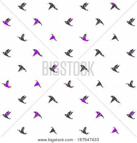 Modern design pattern with origami birds. Vector illustration