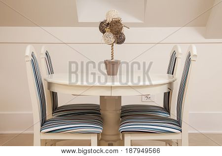 Decorated Set Of Chairs And Table