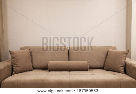 New Couch In Front Of Wall