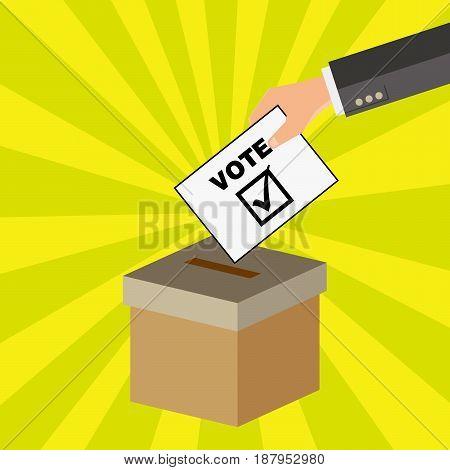 Put the vote into the ballot box