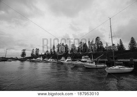 Kiama leisure port, New South Wales, Australia.