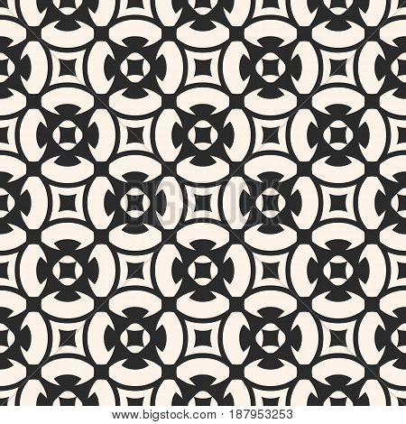 Ornamental seamless pattern vector, geometric, floral, texture monochrome ornament, delicate, lattice. Abstract background in oriental style. Square design element for prints, decor, tiling, furniture