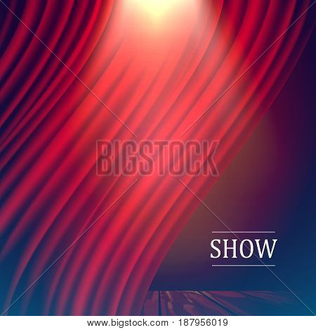 Vector illustration of a scene and light. The concept of theater, fencing, festival.